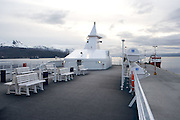 On deck of ship in port, Ushuaia, Argentina
