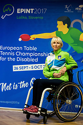 Matej Pintar during press conference of Slovenian Team for EPINT 2017 - European Table Tennis Championships for the Disabled in Ljubljana, Slovenia on September 19, 2017. Photo by Vid Ponikvar / Sportida