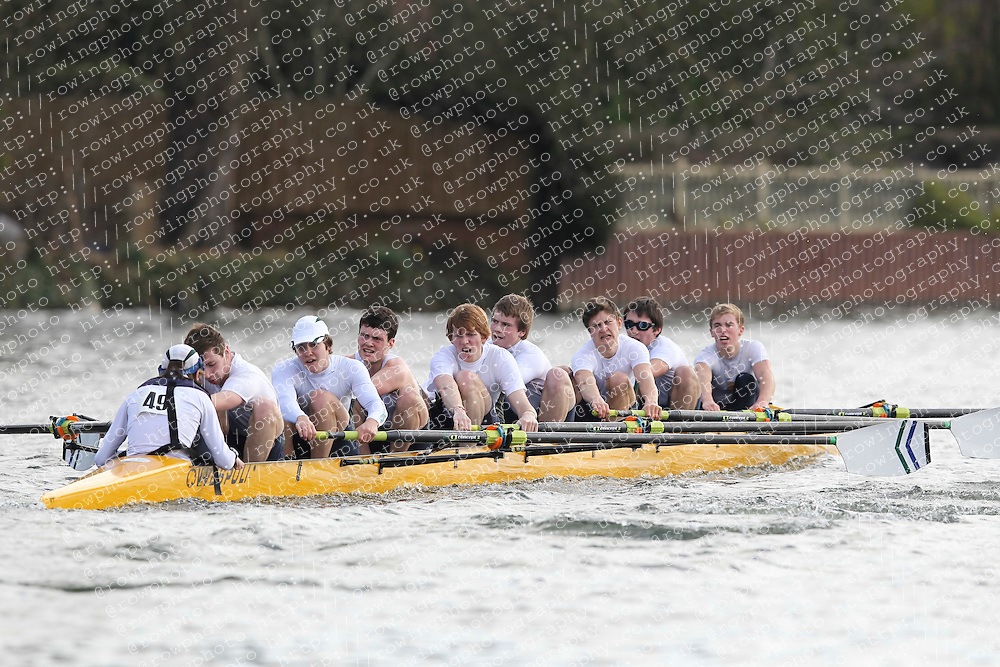 2012.02.25 Reading University Head 2012. The River Thames. Division 1. Kings School Chester Boat Club IM3 8+