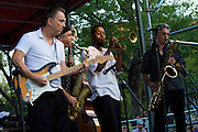 Jimmie Vaughan and the Tilt-A-Whirl Band at Blues on the Green at Waterloo Park, Austin Texas, July 1, 2009.