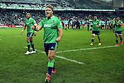 Ross Geldenhuys celebrates, NSW Waratahs v Otago Highlanders Semi Final. Sport Rugby Union Super Rugby Domestic Provincial. Allianz Stadium SFS. 27 June 2015. Photo by Paul Seiser/SPA Images
