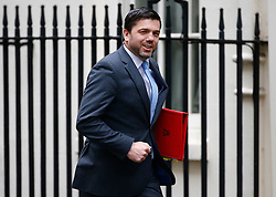 © Licensed to London News Pictures. 10/05/2016. London, UK. Secretary of State for Work and Pensions STEPHEN CRABB arrives at Number 10 Downing Street in Westminster, London for cabinet meeting. Photo credit: Tolga Akmen/LNP