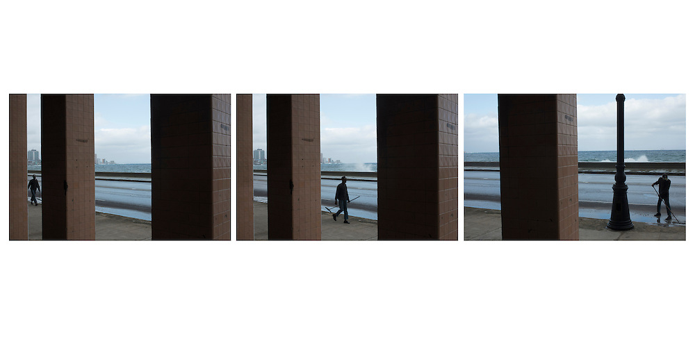 The Malecon in a triptych