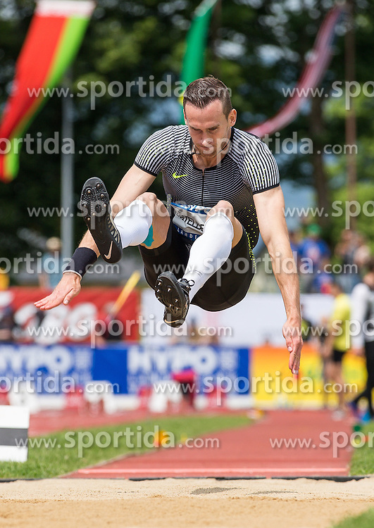 28.05.2016, Moeslestadion, Goetzis, AUT, 42. Hypo Meeting Goetzis 2016, Zehnkampf der Herren, Weitsprung, im Bild Dominik Distelberger (AUT) // Dominik Distelberger of Austria during the Long jump event of the Decathlon competition at the 42th Hypo Meeting at the Moeslestadion in Goetzis, Austria on 2016/05/28. EXPA Pictures © 2016, PhotoCredit: EXPA/ Peter Rinderer