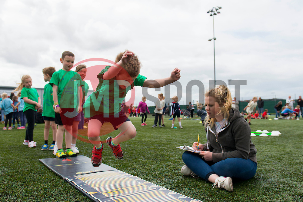 Young Children take part in the long jump during the Bristol Sport youth festival - Photo mandatory by-line: Dougie Allward/JMP - Mobile: 07966 386802 - 06/06/2015 - SPORT - Multi-Sport - Bristol - SGS Wise Campus - Bristol Sport Festival Of Youth Sport - Festival Of Youth