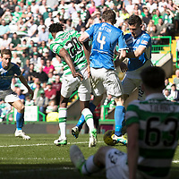Celtic v St Johnstone…06.05.17     SPFL    Celtic Park<br />Blair Alston plays the ball to Steven MacLean who scores for saints<br />Picture by Graeme Hart.<br />Copyright Perthshire Picture Agency<br />Tel: 01738 623350  Mobile: 07990 594431