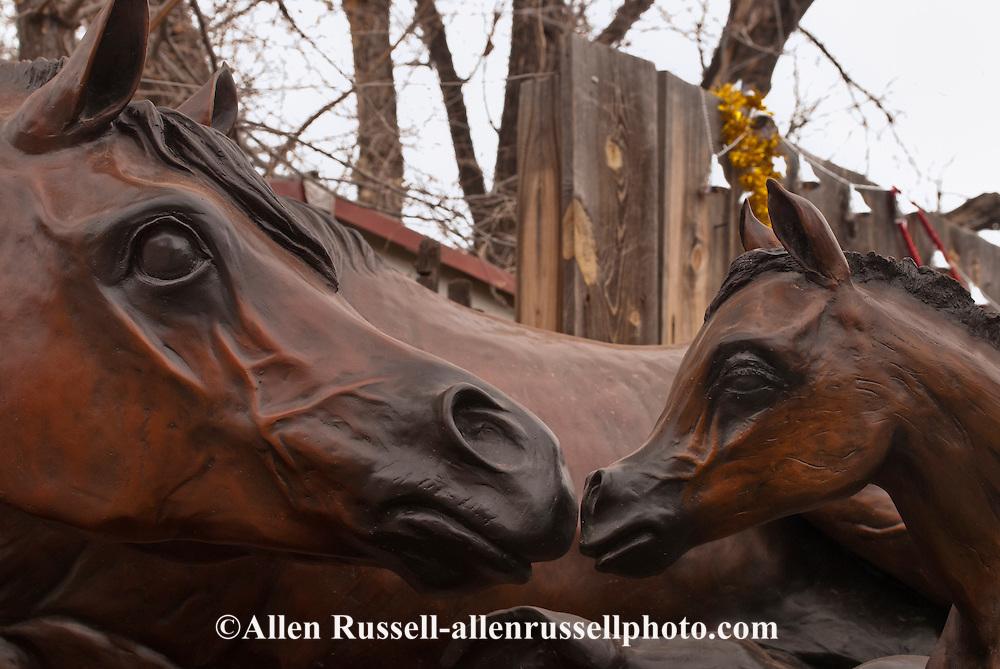 Santa Fe, New Mexico, Canyon Road, horse sculptures, art