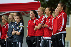 CARDIFF, WALES - Wednesday, June 1, 2016: Wales women's players during a training session at the Vale Resort Hotel ahead of the International Friendly match against Sweden. (Pic by David Rawcliffe/Propaganda)
