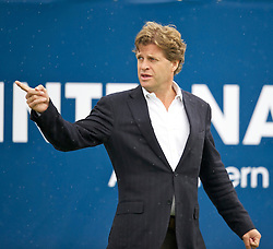 LIVERPOOL, ENGLAND - Thursday, June 16, 2011: Tournament Director Anders Borg on day one of the Liverpool International Tennis Tournament at Calderstones Park. (Pic by David Rawcliffe/Propaganda)