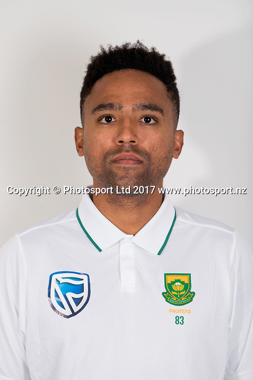 Dane Piedt, South Africa Cricket Team. Seddon Park, Hamilton, New Zealand. 22 March 2017.<br /> <br /> Photo: Christine Cornege/ Photosport.