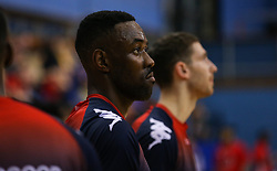 Raphell Thomas-Edwards of Bristol Flyers during the warm up - Photo mandatory by-line: Arron Gent/JMP - 28/09/2019 - BASKETBALL - Crystal Palace National Sports Centre - London, England - London City Royals v Bristol Flyers - British Basketball League Cup