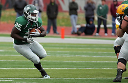 18 October 2014:  Anfernee Roberts during an NCAA division 3 football game between the Augustana Vikings and the Illinois Wesleyan Titans in Tucci Stadium on Wilder Field, Bloomington IL