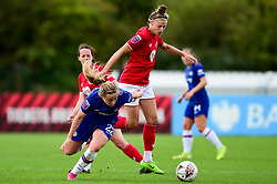 Yana Daniels of Bristol City challenges Erin Cuthbert of Chelsea Women - Mandatory by-line: Ryan Hiscott/JMP - 29/09/2019 - FOOTBALL - SGS College Stoke Gifford Stadium - Bristol, England - Bristol City Women v Chelsea Women - FA Women's Super League
