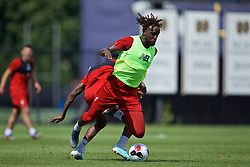 SOUTH BEND, INDIANA, USA - Thursday, July 18, 2019: Liverpool's Divock Origi during a training session ahead of the friendly match against Borussia Dortmund at the Notre Dame Stadium on day three of the club's pre-season tour of America. (Pic by David Rawcliffe/Propaganda)