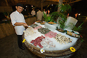 Evason Ana Mandara & Six Senses Spa ? Nha Trang. Beach Restaurant. Seafood buffet for dinner.