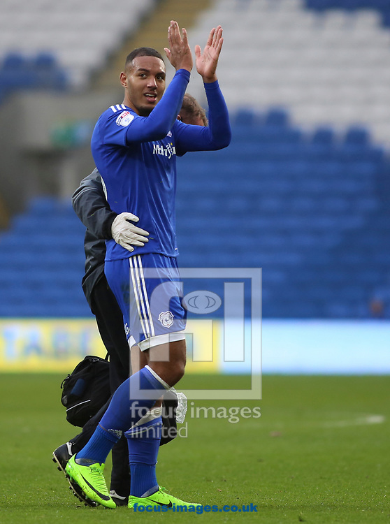 Kenneth Zohore of Cardiff City during the Sky Bet Championship match at the Cardiff City Stadium, Cardiff<br /> Picture by Mike Griffiths/Focus Images Ltd +44 7766 223933<br /> 18/03/2017