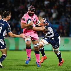 Josh STRAUSS of Stade Francais during the Top 14 match between Agen and Stade Francais on October 19, 2019 in Agen, France. (Photo by Julien Crosnier/Icon Sport) - Josh STRAUSS - Stade Armandie - Agen (France)