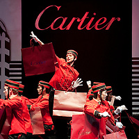 HONG KONG - NOVEMBER 26:  Actors perfomance during the Cartier Flagship Opening Gala Dinner on November 26, 2010 in Hong Kong.  Photo by Victor Fraile / studioEAST