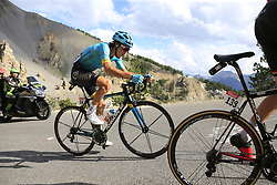 Bakhtiyar Kozhatayev (KAZ) Astana climbs through the Caisse Deserte on Col d'Izoard during Stage 18 of the 104th edition of the Tour de France 2017, running 179.5km from Briancon to the summit of Col d'Izoard, France. 20th July 2017.<br /> Picture: Eoin Clarke | Cyclefile<br /> <br /> All photos usage must carry mandatory copyright credit (© Cyclefile | Eoin Clarke)