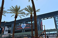 PHOENIX, AZ - APRIL 2:  General view of Chase Field for the Opening Day game between the San Francisco Giants and Arizona Diamondbacks on Sunday, April 2, 2017 in Phoenix, Arizona. (Photo by Jennifer Stewart/MLB Photos via Getty Images) *** Local Caption ***