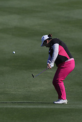 March 22, 2019 - Phoenix, AZ, U.S. - PHOENIX, AZ - MARCH 22: Shanshan Feng hits an approach shot on the sixteenth hole during the second round of the Bank of Hope LPGA Golf Tournament at the Wildfire Golf Club at JW Marriott Phoenix Desert Ridge Resort & Spa, March 22, 2019 in Phoenix, Arizona (Photo by Will Powers/Icon Sportswire) (Credit Image: © Will Powers/Icon SMI via ZUMA Press)