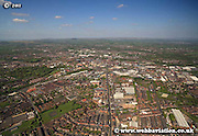 aerial photograph of Bolton Lancashire UK