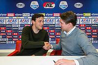 ALKMAAR - 14-04-2016, Nieuw contract Joris van Overeem verlengd tot medio 2020, AFAS Stadion.