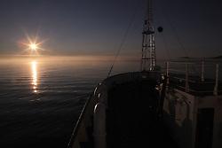 USA ALASKA ST PAUL ISLAND 8JUL12 - Sunset over the Bering Sea seen from aboard the Esperanza off the island of St. Paul in the Bering Sea, Alaska.....Photo by Jiri Rezac / Greenpeace....© Jiri Rezac / Greenpeace
