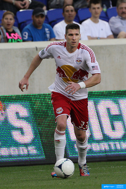 New York Red Bulls player Kenny Cooper in action during the New York Red Bulls V Chivas USA Major League Soccer match at Red Bull Arena, Harrison, New Jersey, 23rd May 2012. Photo Tim Clayton