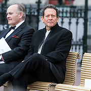 NLD/Amsterdam/20140613 - Prinses Beatrix bij de uitreiking van de Pritzker Achitecture Prize 2014, Lord Peter Palumbo en Mr. Shigeru Ban