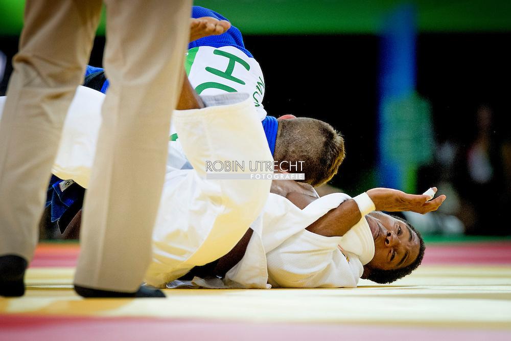 RIO DE JANEIRO - Dex Elmont tijdens de achtste finale het judotoernooi in de Carioca Arena op de Olympische Spelen van Rio. ANP ROBIN UTRECHT