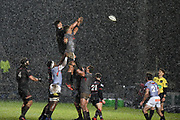 Hailstones didn't stop play during during the Guinness Pro 14 2017_18 match between Edinburgh Rugby and Southern Kings at Myreside Stadium, Edinburgh, Scotland on 5 January 2018. Photo by Kevin Murray.