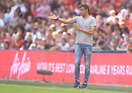 Manager of FC Barcelona Luis Enrique during the International Champions Cup match at Wembley Stadium, London<br /> Picture by Andrew Timms/Focus Images Ltd +44 7917 236526<br /> 06/08/2016