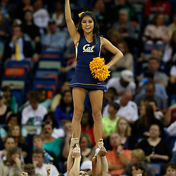 April 7, 2013; New Orleans, LA, USA; California Golden Bears cheerleaders perform against the Louisville Cardinals during the second half in the semifinals during the 2013 NCAA womens Final Four at the New Orleans Arena. Mandatory Credit: Derick E. Hingle-USA TODAY Sports