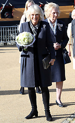 Duchess of Cornwall arriving at the Mary Rose Museum in Portsmouth, United Kingdom, Wednesday, 26th February 2014. Picture by Stephen Lock / i-Images