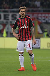 March 2, 2019 - Milan, Milan, Italy - Lucas Biglia #21 of AC Milan during the serie A match between AC Milan and US Sassuolo at Stadio Giuseppe Meazza on March 02, 2019 in Milan, Italy. (Credit Image: © Giuseppe Cottini/NurPhoto via ZUMA Press)