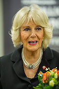 Her Royal Highness meets other staff and supporters and is given flowers.The Duchess of Cornwall, Patron, Arthritis Research UK, visits and meets patients of the Adolescent Inpatient Unit at University College London Hospitals.  •	Her Royal Highness then tours a laboratory at the Arthritis Research UK Centre for Adolescent Rheumatology and meeting researchers and supporters. London 12 Feb 2015.