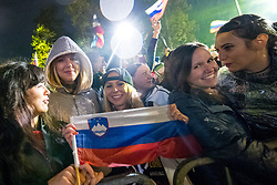 Fans during Reception of Slovenian national baskteball team with Gold medal from Eurobasket 2017 - Istanbul and Slovenian women's U23 volleyball team with Silver medal from Women's U23 World Championships - Ljubljana, on September 18, 2017 in Kongresni trg, Ljubljana, Slovenia. Photo by Matic Klansek Velej / Sportida
