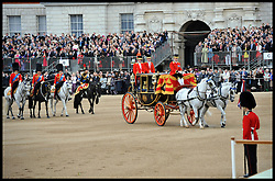 HM The Queen and the Duke of Edinburgh attend the Queen's Trooping of the Colour, The Queen's Birthday Parade on Horse Guards Parade, London, Saturday June 16, 2012. Photo by Andrew Parsons/i-Images..All Rights Reserved ©Andrew Parsons/i-Images .See Special Instructions
