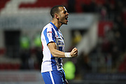 Brighton & Hove Albion defender Liam Rosenior (23) celebrates victory during the EFL Sky Bet Championship match between Rotherham United and Brighton and Hove Albion at the AESSEAL New York Stadium, Rotherham, England on 7 March 2017.