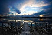 jetty on Lake Wendouree at dusk