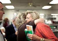 GREENVILLE, SC:  Ann Romney, former first lady of Massachusetts and devoted wife of republican candidate for president, Mitt Romney, meets supporters for breakfast at Tommy's Country Ham House in Greenville, South Carolina, Thursday, September 29, 2011. (Photo by Melina Mara/The Washington Post) . ...