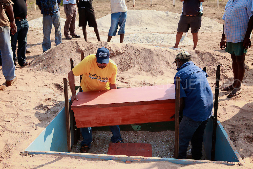 Aboriginal artefacts and remains repatriated in Bidyadanga, Western Australia.