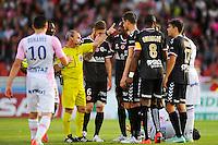 Lionel JAFFREDO - 09.05.2015 -  Evian Thonon / Reims  - 36eme journee de Ligue 1<br />Photo : Jean Paul Thomas / Icon Sport