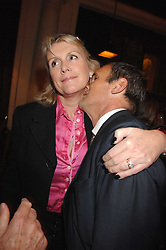LOUISE FENNELL and A A GILL at a party to celebrate the publication of Table Talk by A  A Gill held at Luciano, 72-73 St.James's, London on 22nd October 2007.<br />
