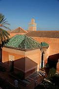 MAROC, Marrakesh:cimitero della moschea Morocco
