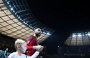 BERLIN, TYSKLAND - 2017-12-07: Saman Ghoddos inf&ouml;r UEFA Europa League group J matchen mellan Hertha BSC och &Ouml;stersunds FK p&aring; Olympiastadion den 7 december, 2017 i  Berlin, Tyskland. Foto: Nils Petter Nilsson/Ombrello<br /> ***BETALBILD***