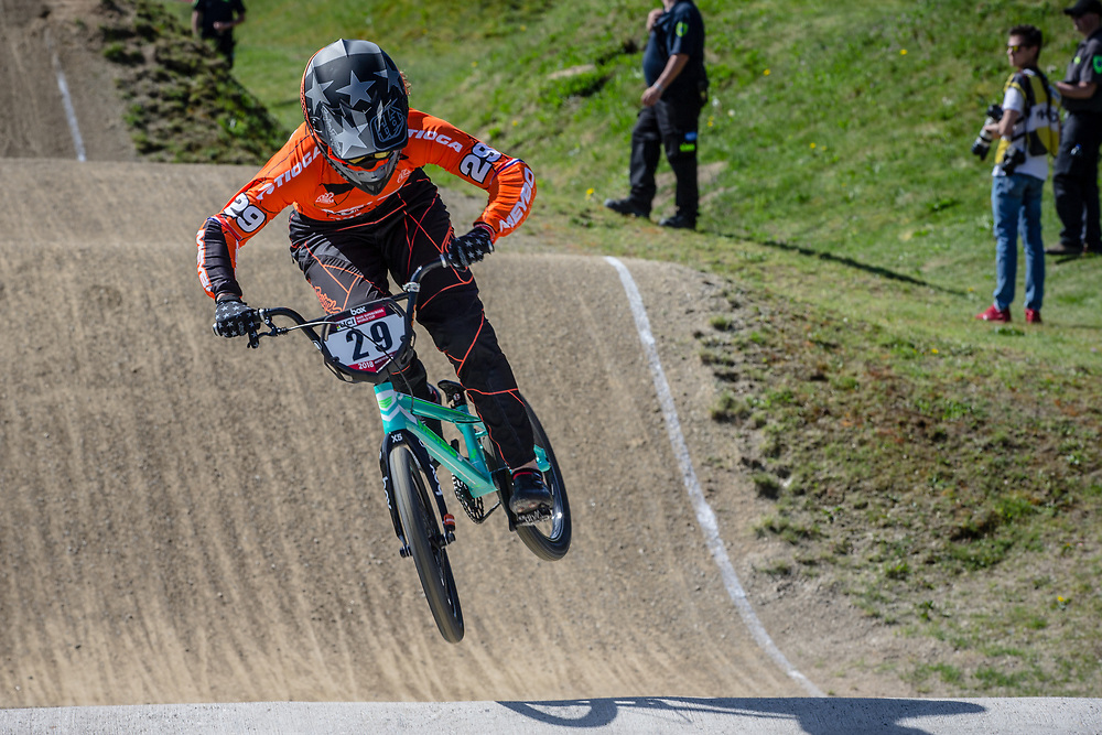 #29 (HUISMAN Ruby) NED during practice of Round 3 at the 2018 UCI BMX Superscross World Cup in Papendal, The Netherlands