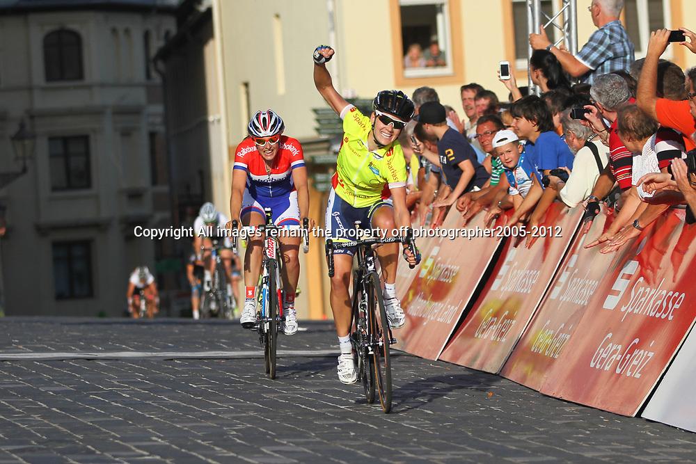 Thueringen Rundfahrt der Frauen Emma Johansson wins stage 4 in Altenburg; 2nd Lucinda Brand