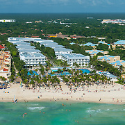 Aerial view of Riu Playacar. Playa del Carmen. Mexico